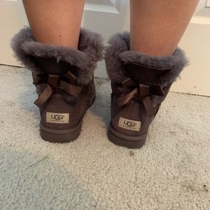 Ugg mini boots w/ bows